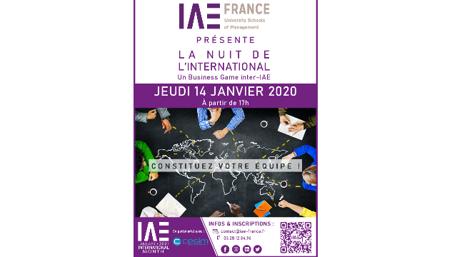 Business Game inter-IAE : LA NUIT DE L'INTERNATIONAL !